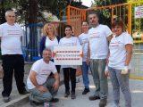 Доброволци от EVN – Пловдив боядисаха с родители старозагорска детска градина