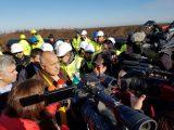 """Премиерът Борисов инспектира строителството на """"Балкански поток"""", газопроводът напредва с по над 5 км в ден"""